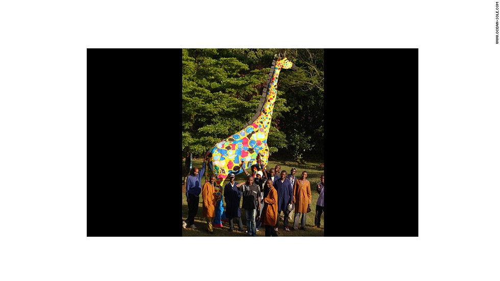 In 2008, an 18-foot giraffe named Twiga was shipped to Rome, Italy, to be displayed during Fashion Week as part of the International Trade Centre's campaign to raise awareness for ethical fashion.