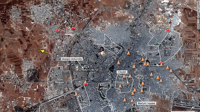 Satellite photos show Syrian devastation