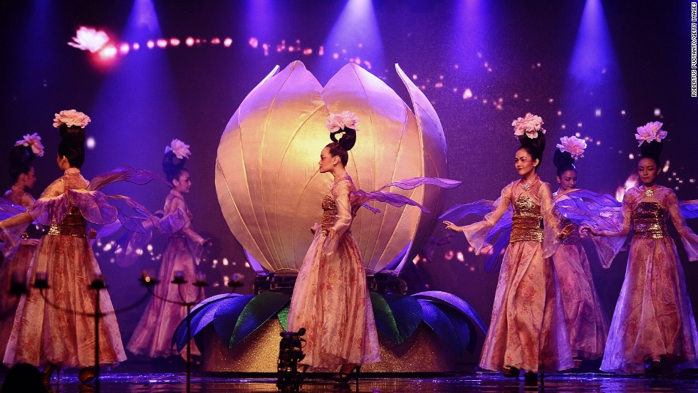 Actors perform on stage during the Beauty of China Opera show at the Pakuwon Ballroom in Surabaya, Indonesia, on January 30. Chinese opera, a tradition dating back more than 500 years, is performed as part of Lunar New Year celebrations.