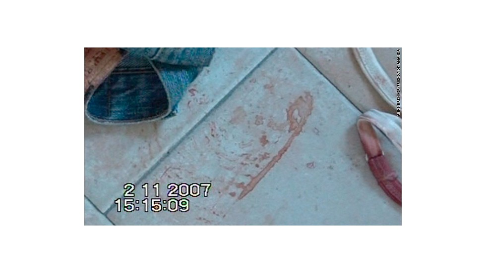 <strong>Bloody shoe print in Kercher's room:</strong> The prosecution said the bloody shoe print found next to Kercher's body belonged to Sollecito and placed him in Kercher's room when she was murdered. The defense said that after Guede was found to have a shoe box for shoes matching the print, they argued for a re-examination of the print. Francesco Vinci, a coroner and forensic specialist for Sollecito, testified he believes it was wrongly attributed to Sollecito and belongs to Guede.