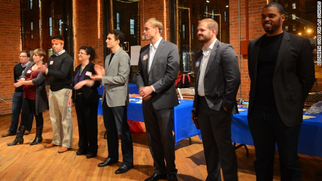 Educators and entrepreneurs collide at pitch night.