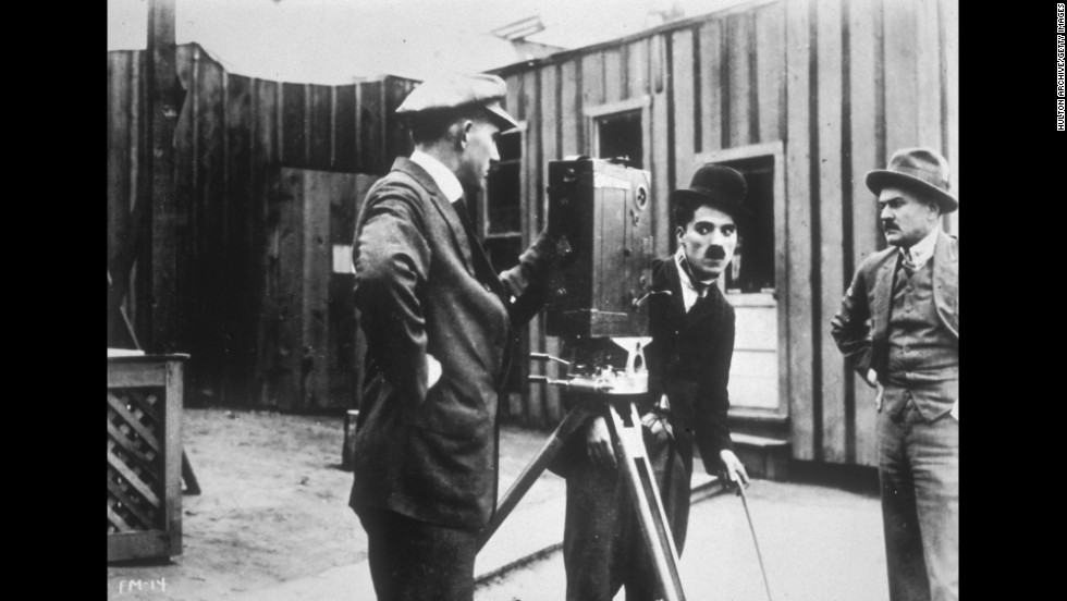 "Chaplin appears for the first time as his famous character the Tramp in ""Kid Auto Races at Venice"" in 1914."