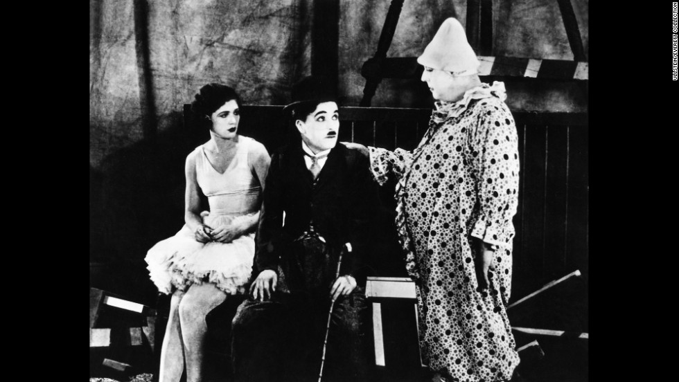 """The Tramp tries out life under the big top in """"The Circus"""" (1928)."""