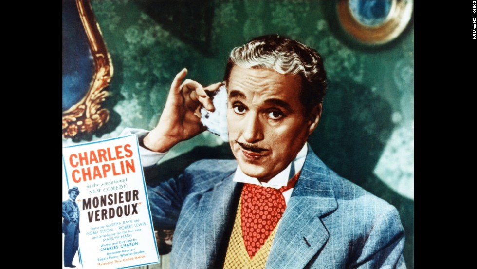"""In """"Monsieur Verdoux"""" (1947), Chaplin's character is a lady-killer -- literally. Verdoux makes a living out marriage and murder."""