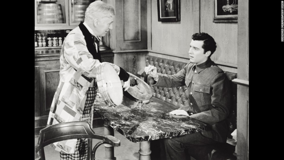 "Chaplin appeared with his son Sidney in ""Limelight"" (1952)."