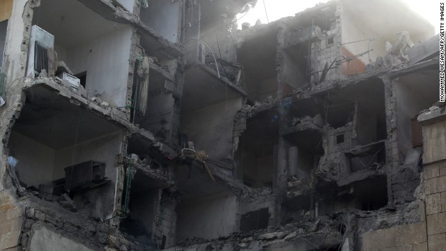 Barrel bombs rain down on Syria