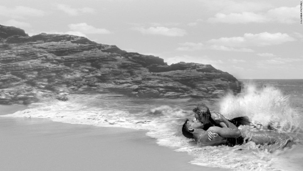 """Facing the strict movie censorship of the 1950s, director Fred Zinnemann's version of """"From Here to Eternity"""" considerably toned down James Jones' tough and profane novel about military life in Hawaii on the eve of the Pearl Harbor attack. But Burt Lancaster and Deborah Kerr's sexy tryst on the beach made waves among moviegoers."""