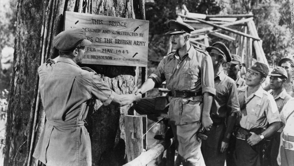 "Director David Lean proved filmmakers could make intelligent epics such as ""The Bridge on the River Kwai."" Already a star in British films, Alec Guinness won international fame and a best actor Oscar as a British colonel held prisoner with his men in a Japanese camp during World War II."
