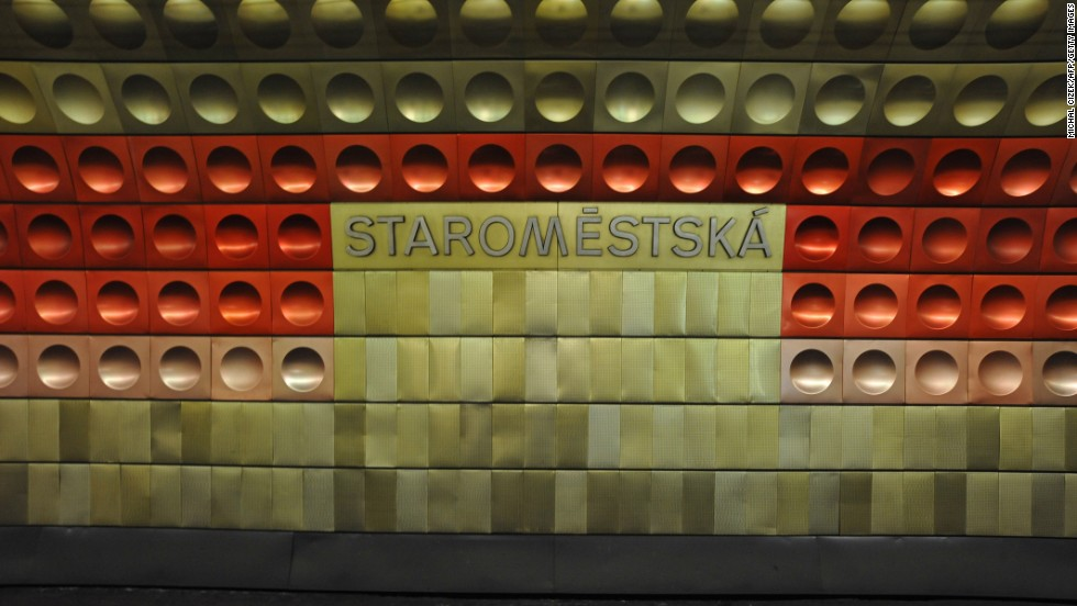 Actually, all of Prague's stations deserve a place here for the unforgettable dimpled wall design, different for each stop and just on the fun side of good taste.