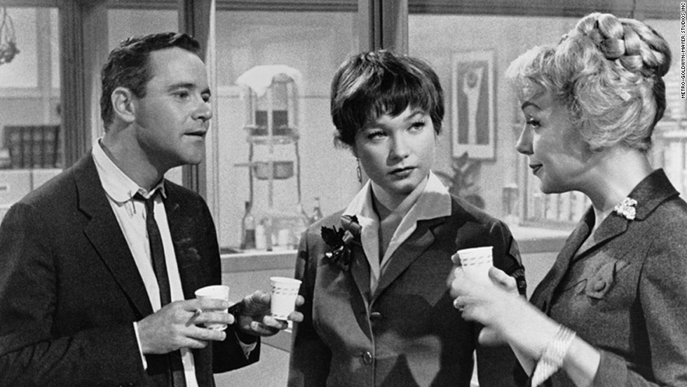 "Long before ""Mad Men,"" Billy Wilder's ""The Apartment"" skewered corporate life of the early 1960s. Up-and-comer Jack Lemmon stays busy loaning his apartment key to company men who need a place to cheat on their wives. He falls for Shirley MacLaine, center, who is having an affair with one of the bosses (""My Three Sons' "" Fred MacMurray in an unsympathetic role)."