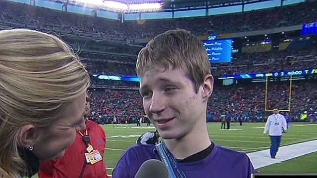 NFL flies armless kicker to Super Bowl