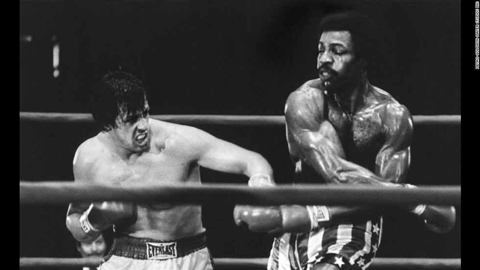 "Sylvester Stallone, left, as struggling boxer Rocky Balboa, gets his shot at the championship against Carl Weathers as Apollo Creed in this best picture winner. Like its hero, ""Rocky"" was an underdog, a low-budget film written by Stallone, then an unknown actor, that became one of the decade's biggest sleeper hits. Stallone would go on to make five sequels."
