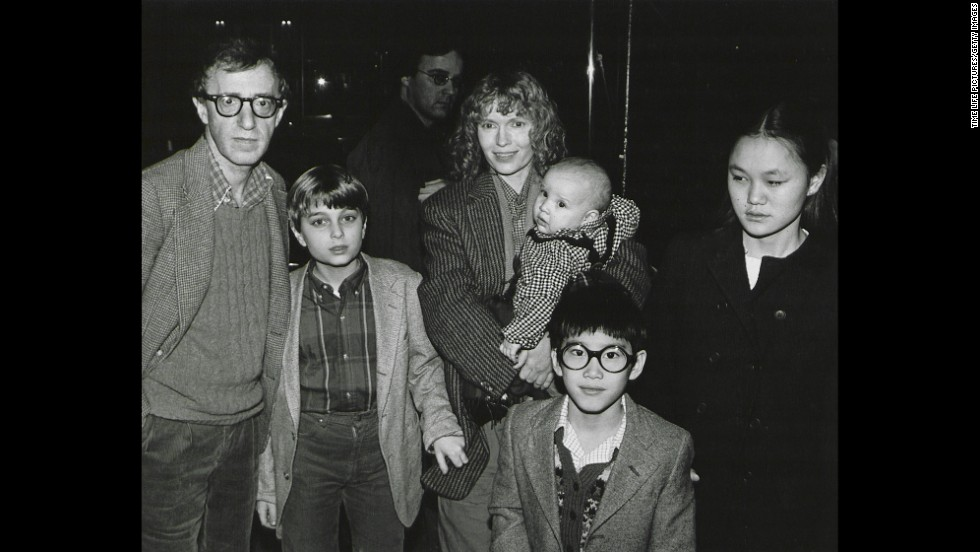 "Woody Allen and his then-partner Mia Farrow pose with their blended family, from left, Misha, Dylan (in Farrow's arms), Fletcher and Soon Yi, in New York in 1986. Allen is back in the news after renewed <a href=""http://www.cnn.com/2014/02/07/showbiz/woody-allen-dylan-farrow-letter/"">allegations that he molested Dylan, which he denies.</a> More people remembered the revelation of his affair with Soon Yi in 1992 than they did the molestation accusations."
