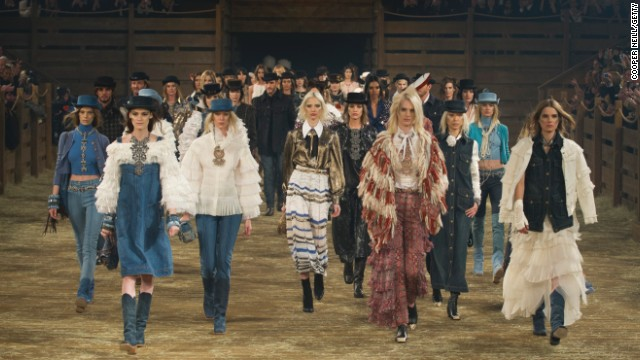 Chanel cowboy chic in Dallas in December