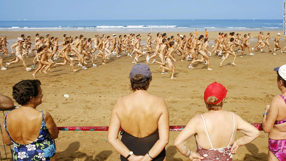 So many naked people, so little beach.