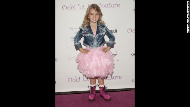 Mia Talerico attends Ooh! La, La! Couture 5th Annual Tutus4Tots Charity Event on February 1, 2014, in Los Angeles.