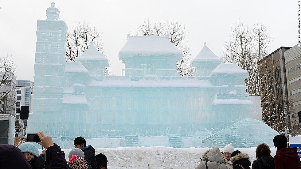 A 10-meter-high, 18-meter-wide ice replica of Taipei's National Palace Museum is a popular attraction. The Sapporo Snow Festival kicked off in 1950 with just six snow statues made by local high school students. In 1955, Japan's armed forces joined the action and started making the massive snow sculptures for which the festival is famous today.