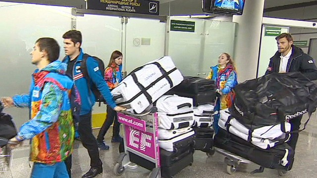 Athletes arrive in Sochi amid threats