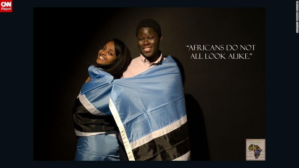"The African Students Association of Ithaca College in New York has launched a photo campaign called ""The Real Africa: Fight the Stereotype."""