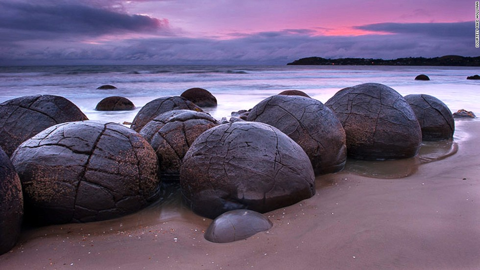 Alien space pods? Monster eggs? The bizarre boulders are best viewed at low tide.