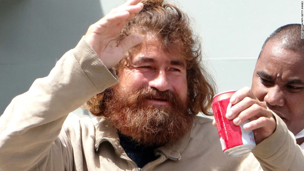 Jose Salvador Alvarenga says he survived being lost at sea for 13 months by living off fish and turtles, rainwater and, sometimes, his own urine. After his boat was blown off course in a storm, currents took him across roughly 6,700 miles (10,780 kilometers) of open ocean, eventually reaching a remote coral atoll in the Marshall Islands in January of 2014.