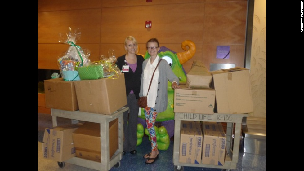 Instead of getting gifts, Daniela collected more than 100 toys for hospitalized children for her 18th birthday on June 2.
