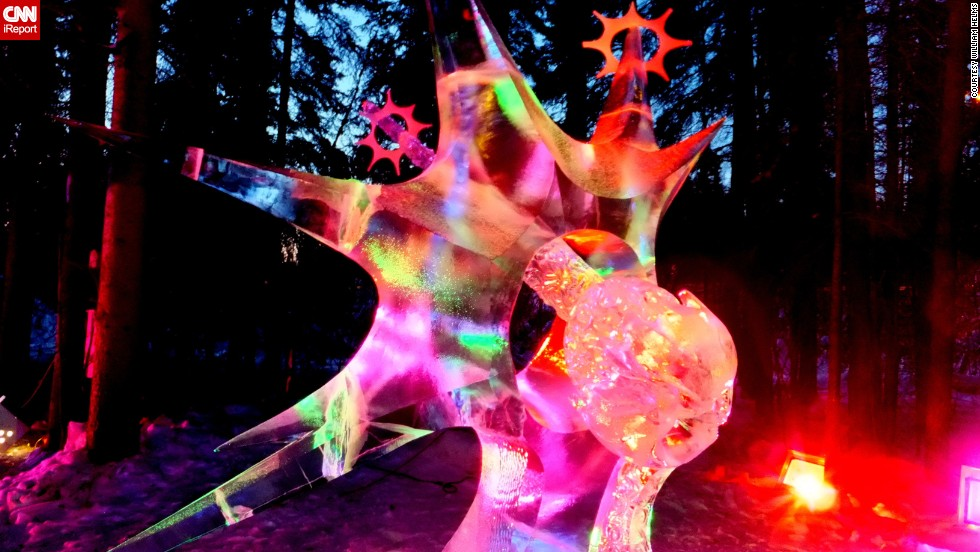 "If you haven't had any fun with ice this winter, there's still time. <a href=""http://ireport.cnn.com/docs/DOC-1071440"">William Helms </a>captured this colorful ice sculpture in March 2013 at the World Ice Art Championships in Fairbanks, Alaska. This year's event runs from February 24 through March 30."