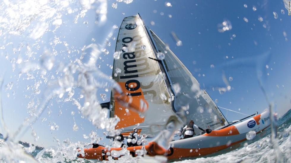 The series is about close, stadium racing, enabling boats such as Holmatro (pictured) to get tight to rivals and spectators alike.
