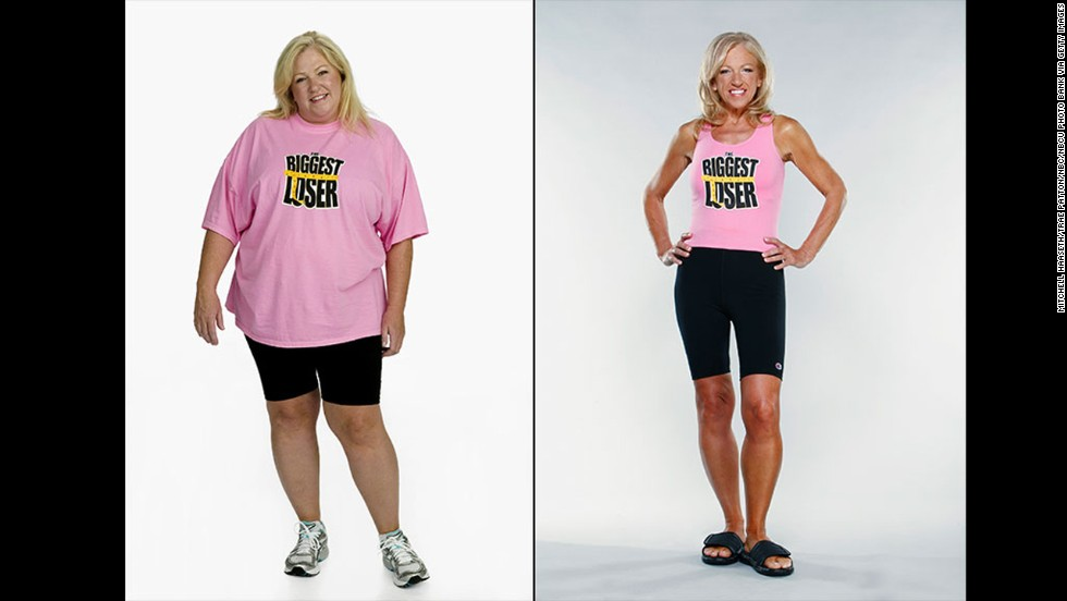 "Season 7 star Helen Phillips worked her way from 257 pounds to a finale weight of 119. After she won, <a href=""http://www.goodhousekeeping.com/health/weight-loss/helen-phillips-weight-loss-success"" target=""_blank"">Phillips treated her husband</a> to a Las Vegas vacation and relished feeling confident enough to wear ""a cute bathing suit, strutting my stuff!"""