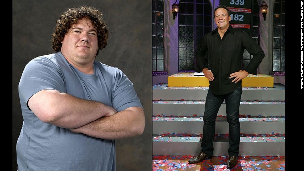 "Matt Hoover's 157-pound weight loss propelled him to ""Biggest Loser"" status during the show's second season. He walked away with more than just $250,000, though: <a href=""http://www.people.com/people/article/0,,1536577,00.html"" target=""_blank"">Hoover wound up marrying his competitor</a>, Suzy, in 2006."