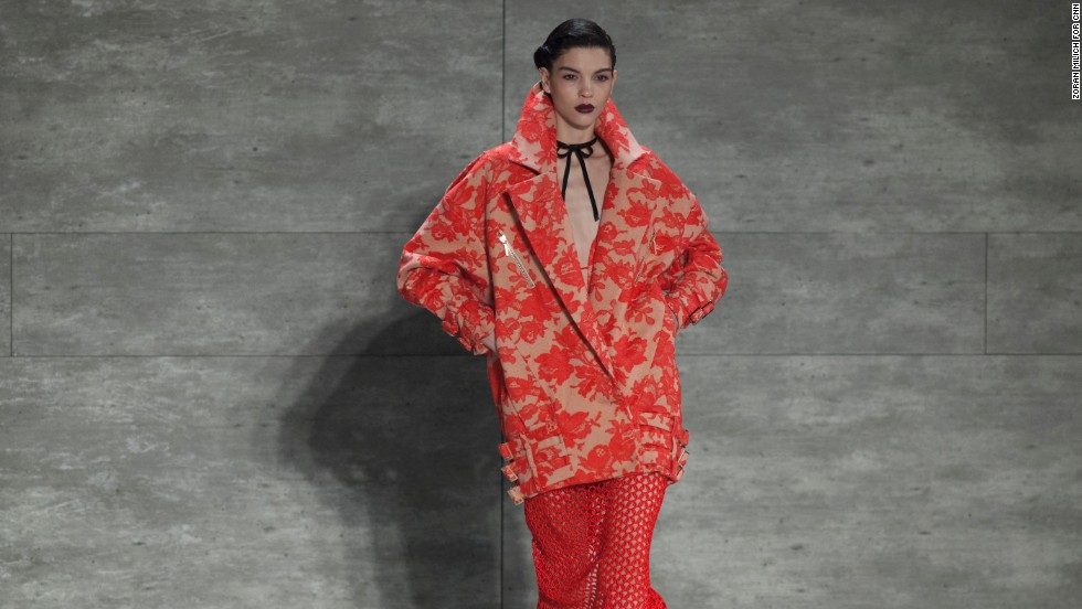 Oversized coats were one of the many themes at Zimmermann's show on February 7.