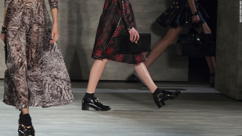Menswear-inspired shoes, like these at Zimmermann, have been popping up all over the runways this season.