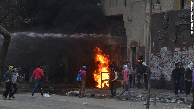 Blasts in Cairo's Ain Shams district, Egypt, February 7, 2014.
