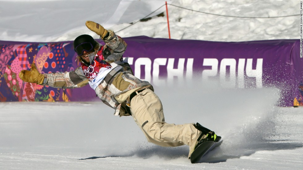 Sage Kotsenburg celebrates after completing his run during the final of the snowboard slopestyle in Sochi. He liked it and so did the judges as the 20-year-old American clinched the first gold of the 2014 Winter Games.