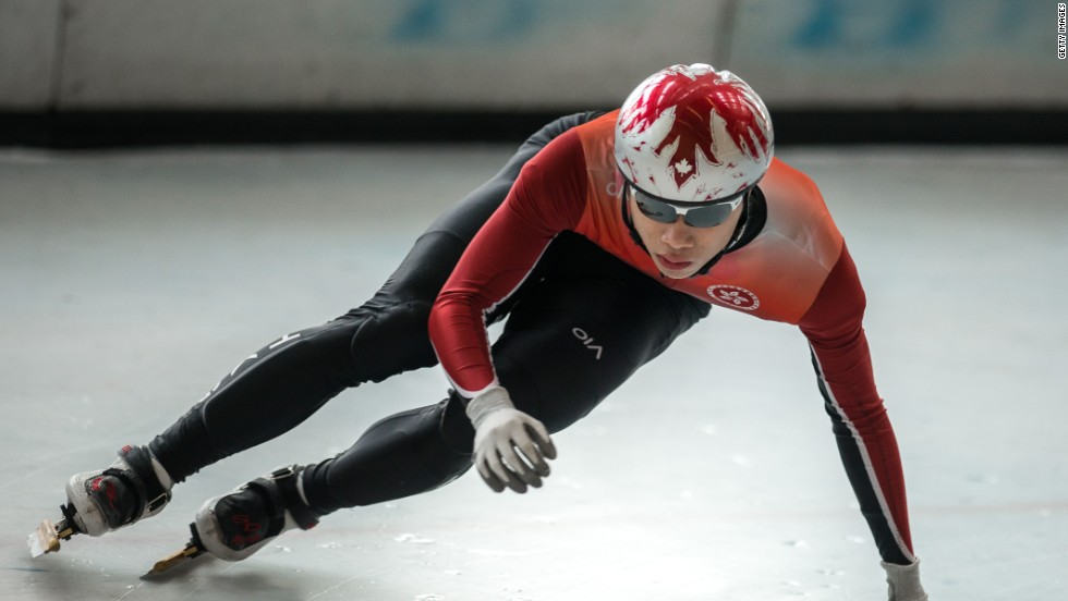 From the Hong Kong special administrative region of China comes Pan-To Barton Lui, a 20 year-old speed skater. Because of a lack of training facilities in Hong Kong, he trained in Canada during his teens.
