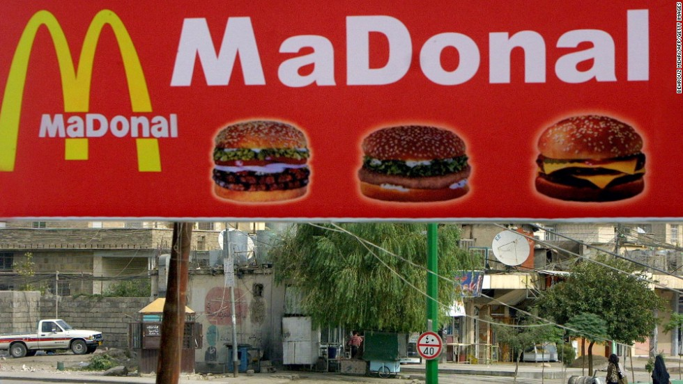 A fast-food restaurant in Iraqi town of Sulaymaniyah -- it's not the real thing, but is it close enough?