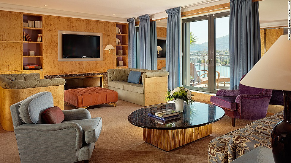 The $26,700 Royal Armleder Suite at Geneva's Le Richemond Hotel is not short on perks. Guests can host a cocktail party on the private terrace (overlooking the Alps and the old city), or relax in the hamman (Turkish bath). Each of the suite's three bedrooms comes with an ensuite bathroom and L'Occitane bath products.