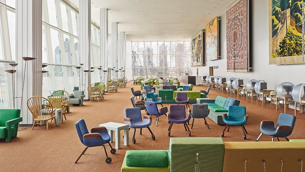 "<em>New interior  for United Nations North Delegates lounge, New York</em><br /><br />Dutch industrial designer <a href=""http://www.jongeriuslab.com/"" target=""_blank"">Hella Jongerius</a> gathered a superstar team, including Rem Koolhaas, Irma Boom, Gabriel Lester and Louise Schouwenberg, to redesign the North Delegates lounge within the UN in New York. The designers carefully edited the existing space, applying iconic Scandinavian aesthetic to create an area of comfort and informality. <br />"