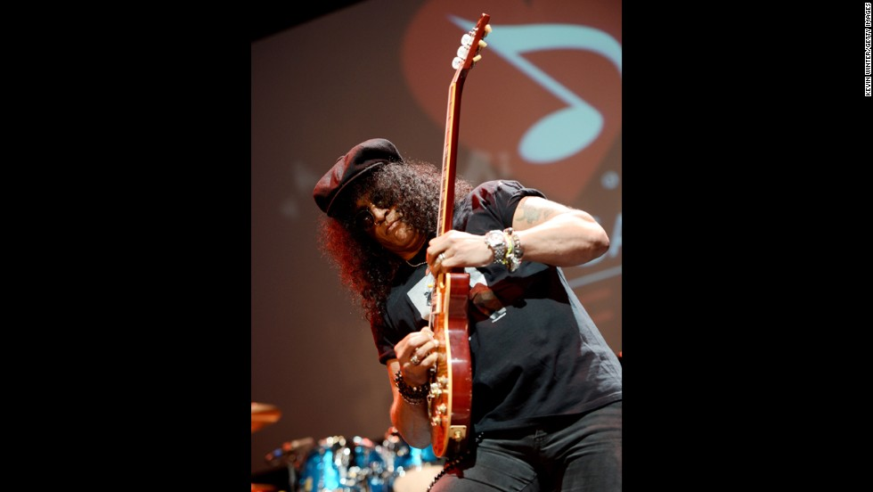 Saul Hudson, more popularly known as the musician Slash, is the former lead guitarist for Guns N' Roses. His mother was a black American and his father a white Brit.