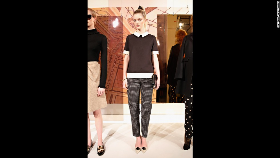 It might be considered casual in the most professional of offices, but this look from Kate Spade's presentation at Mercedes-Benz Fashion Week Fall 2014 would fit in among many modern offices.