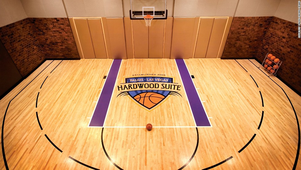 Peek inside the world 39 s most expensive hotel rooms for Indoor half court basketball cost