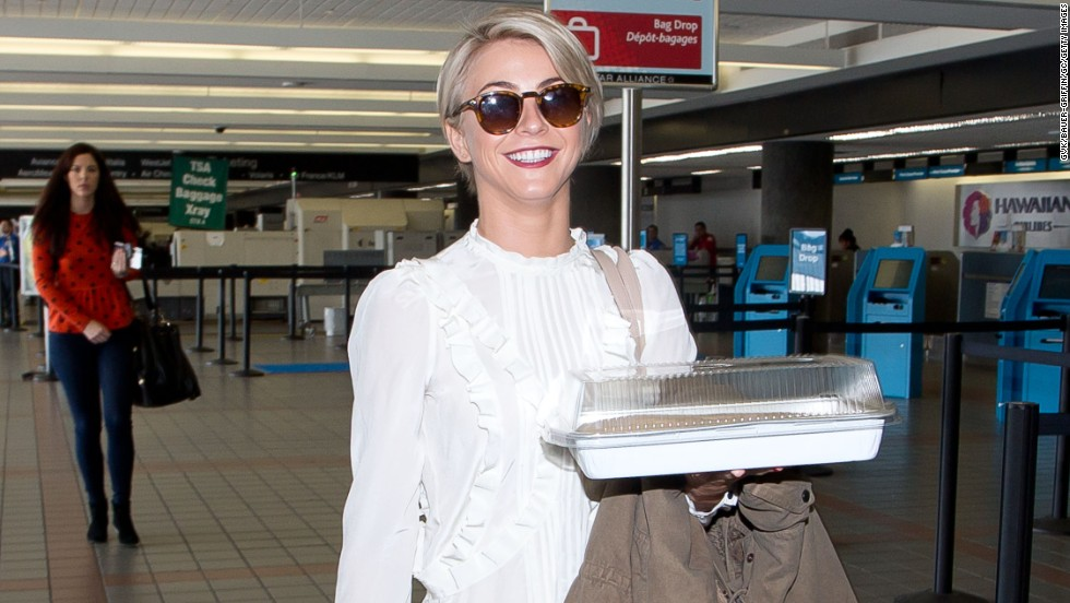 Julianne Hough, too, has caught the short-hair bug that's flying around Hollywood. The actress was spotted rocking a closely cropped pixie in Beverly Hills on February 8.