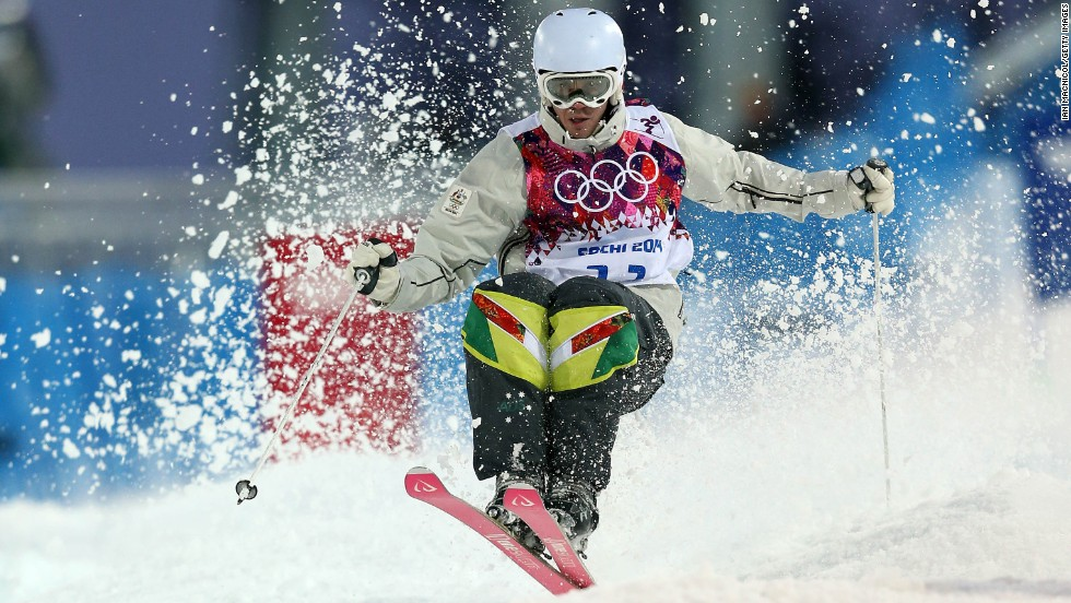 Dale Begg-Smith of Australia competes during the men's moguls on February 10.