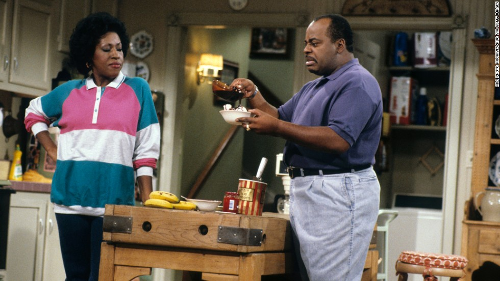 "Jo Marie Payton as Harriette Winslow, a security guard and later salesperson, in ""Family Matters."""