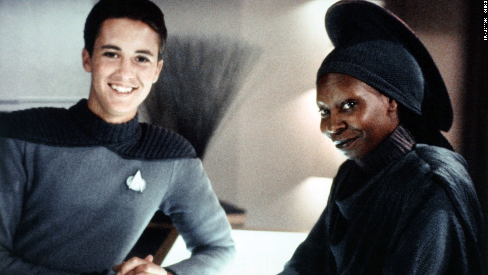 "As a young actor Wheaton appeared as Wesley Crusher on ""Star Trek: The Next Generation"" along with other stars including Whoopi Goldberg."