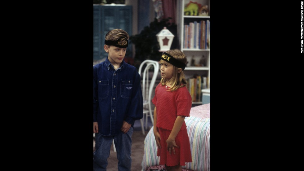 "As a young one, the actor portrayed Derek who was friends with the kids on ""Full House."" Here he appears in a scene from the show with one of the Olsen twins in 1994."