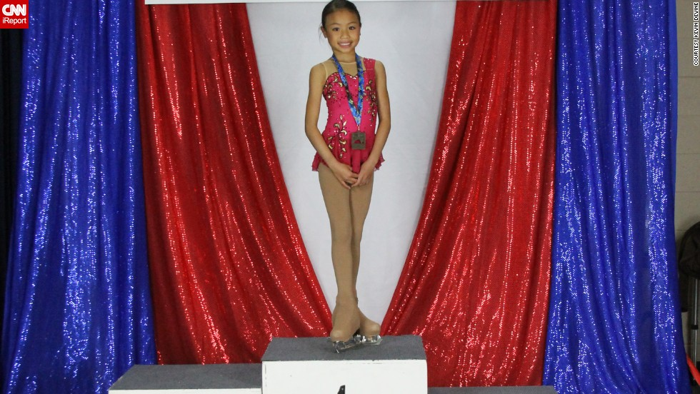 "Nine-year-old <a href=""http://ireport.cnn.com/docs/DOC-1082506"">Isabelle Inthisone</a> has placed first in 18 out of 20 figure skating competitions. She is just one of many young skaters who devote their lives to the winter Olympics' most popular sport in hopes of one day competing for a gold medal."