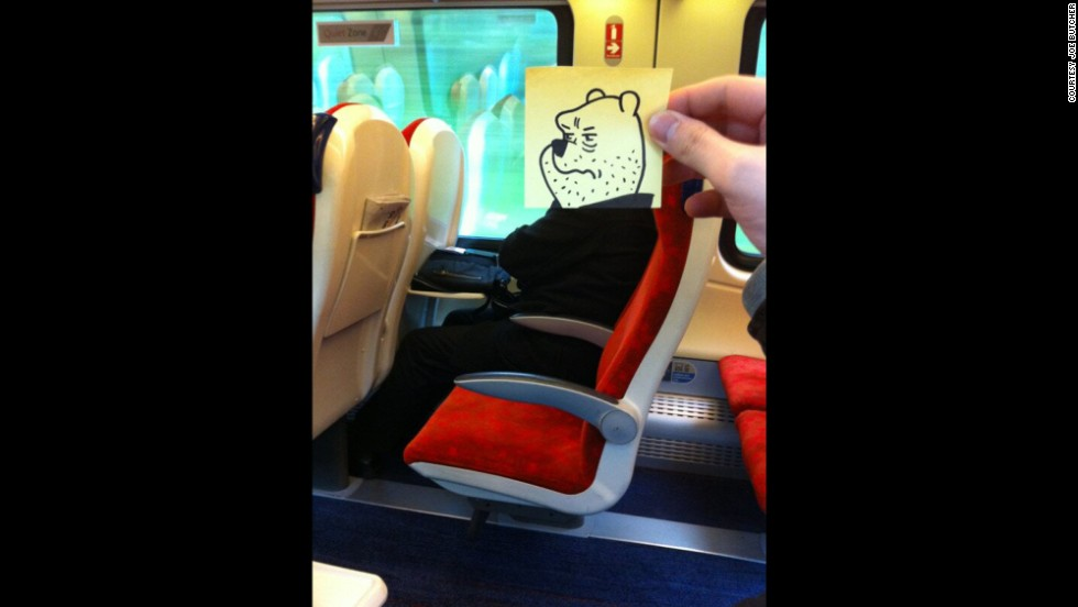 """It's Monday morning. I am on the train. This guy looks like poo."" Poor Pooh."