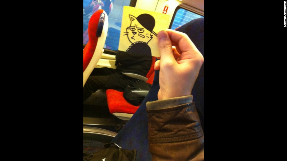 """""""On train with Notorious C.A.T. Word up."""""""