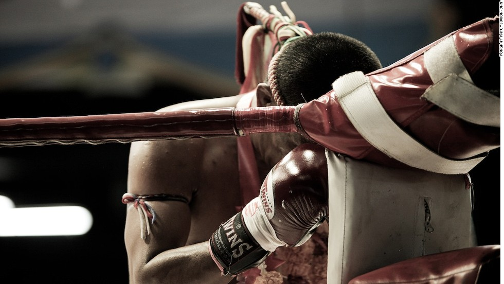 "Prior to the start of the first round, both fighters pay their respects to their teachers by performing a ritual called the ""wai kru."" This is accompanied by traditional Thai music."